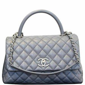 CHANEL Coco Handle Caviar Leather Shoulder Bag